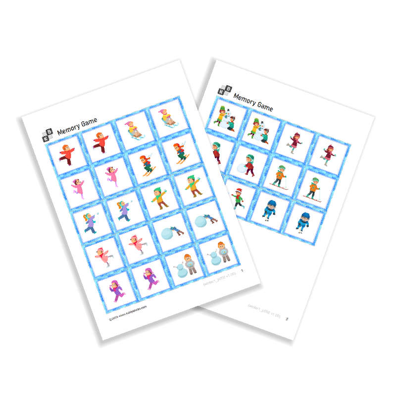 Memory Game - Winter Sports