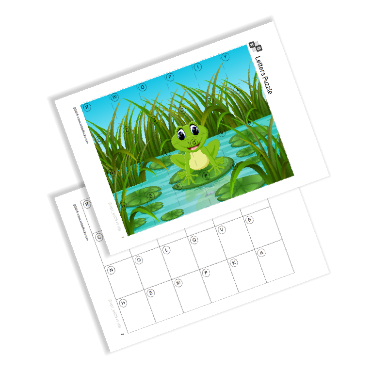 Letters Puzzle - Frog