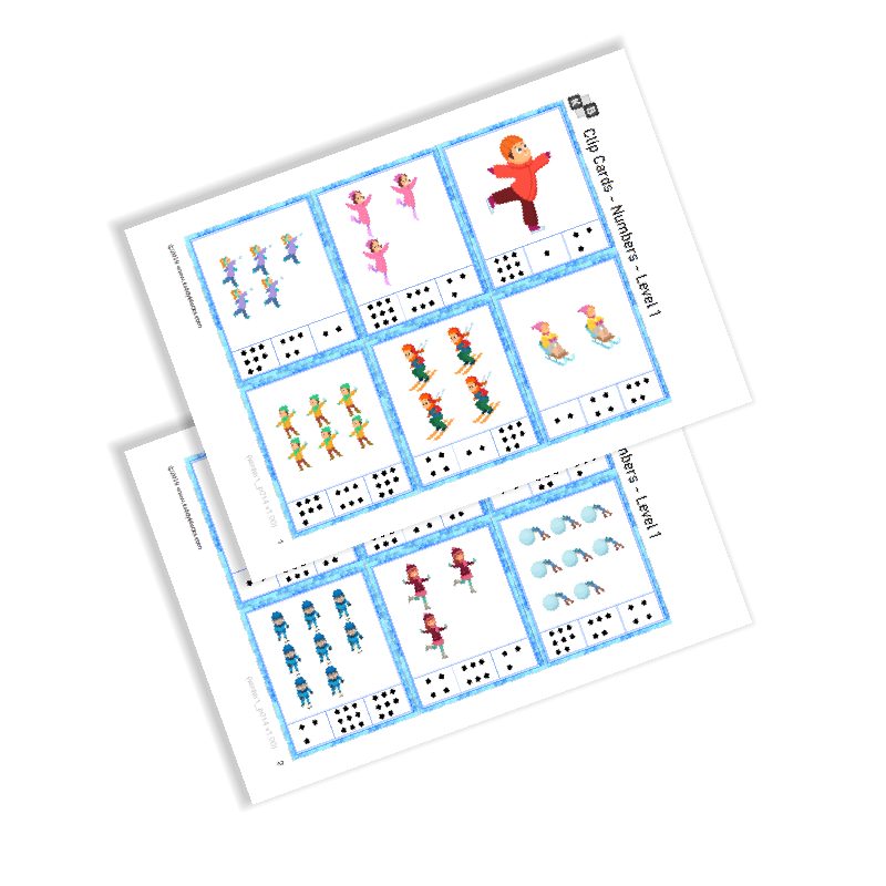 Clip Cards - Numbers - Winter Sports